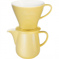 Kaffeefilter aus Porzellan 1x4® & Porzellankanne 0,6L Gelb
