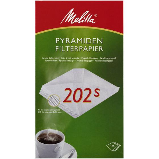 melitta pyramiden filterpapier 202 melitta online shop. Black Bedroom Furniture Sets. Home Design Ideas