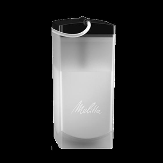 Milchbehälter weiß-transparent, 1 Liter, komplett