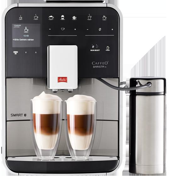 barista ts smart kaffeevollautomat edelstahl melitta. Black Bedroom Furniture Sets. Home Design Ideas
