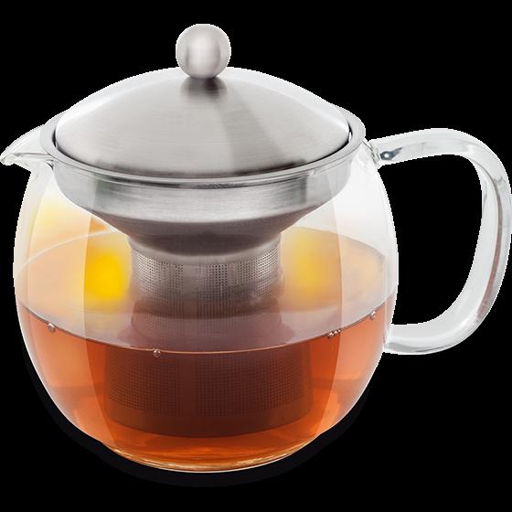 Teekanne mit Filtereinsatz