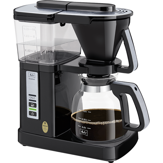 Excellent 5.0 DeLuxe Filterkaffeemaschine, schwarz-silber