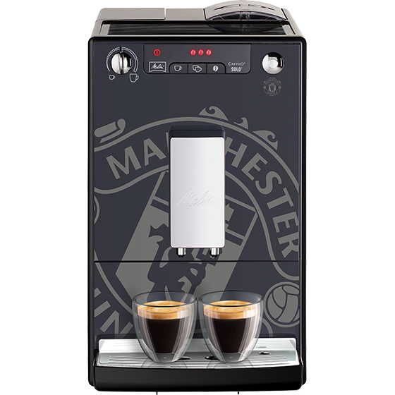 caffeo solo kaffeevollautomat manchester united edition black crest melitta online shop. Black Bedroom Furniture Sets. Home Design Ideas