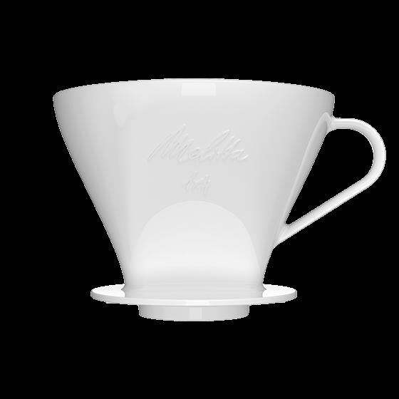 Kaffeefilter 1x4® aus Porzellan, weiß