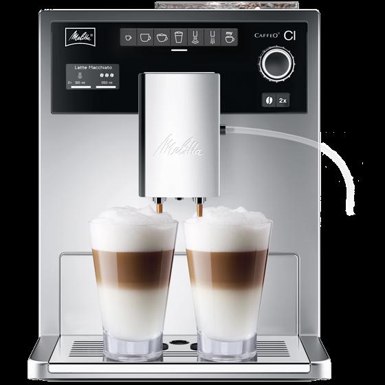 Caffeo® CI® Kaffeevollautomat, silber, ohne Milchbehälter (Auslaufversion)