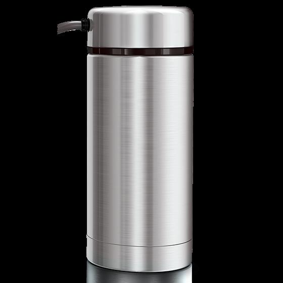 Milchbehälter Edelstahl, 0,5 Liter, komplett