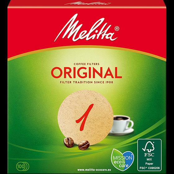 Melitta® Filtertüten® Original, rund, braun