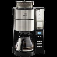AromaFresh Filterkaffeemaschine mit entnehmbarem Wassertank, silber-schwarz