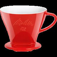 Kaffeefilter aus Porzellan, 102® rot