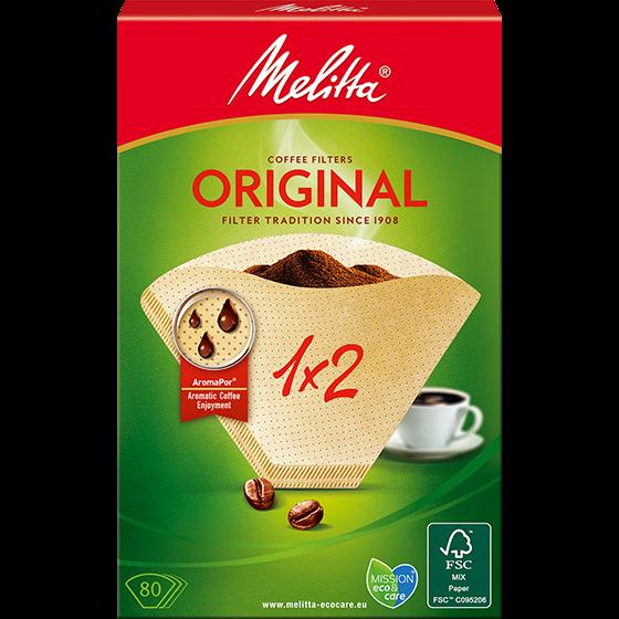 Melitta® Filtertüten® Original, 1x2®, braun