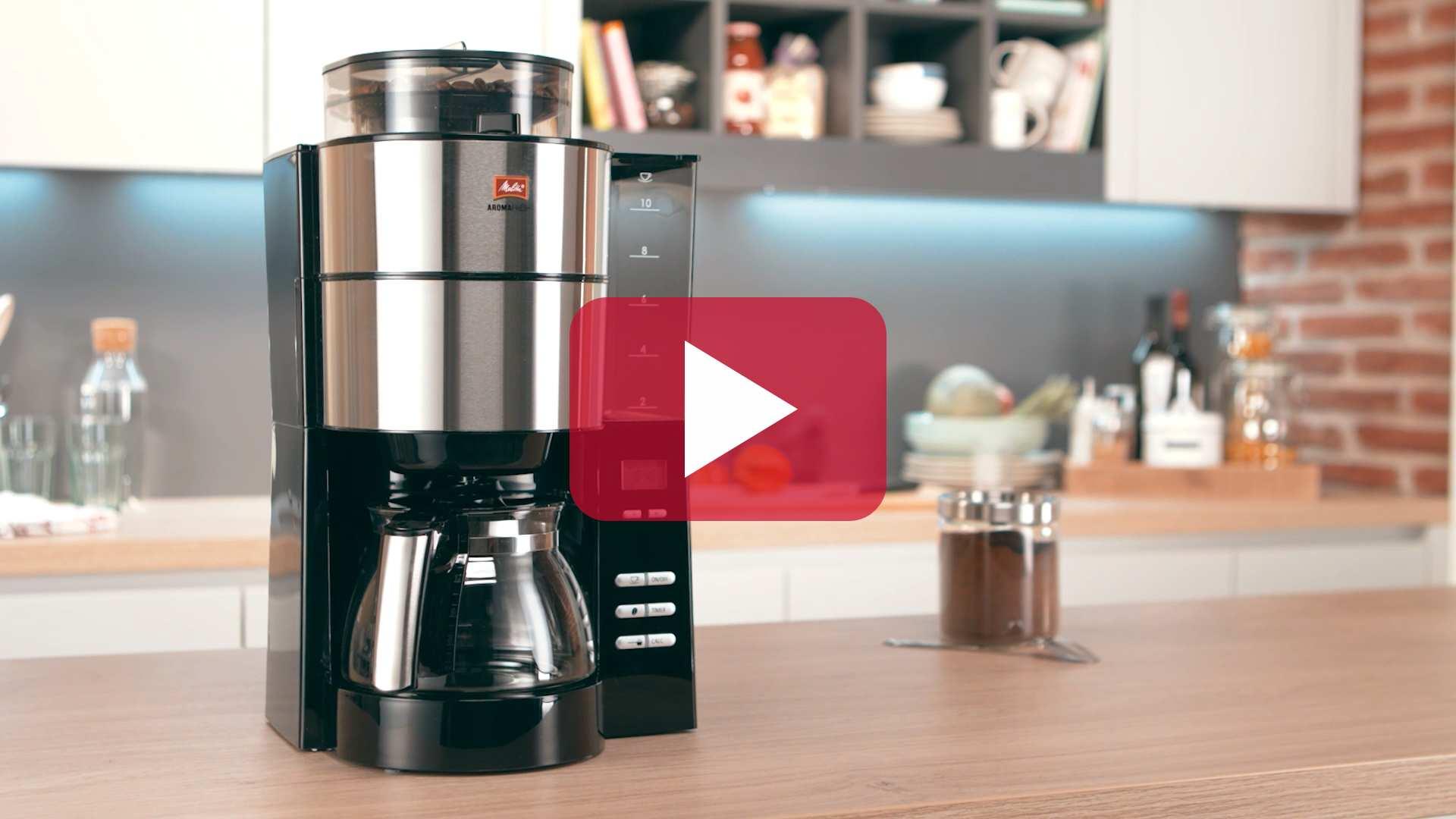 AromaFresh Filterkaffeemaschine Mit Mahlwerk