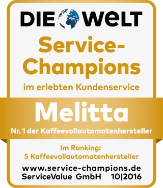 """Melitta® überzeugt die Konsumenten mit """"höchstem Kundenvertrauen"""" und """"bestem Kundenservice""""."""