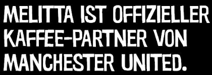 Offizieller Kaffee-Partner von Manchester United