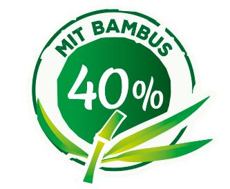 mit 40% Bambus