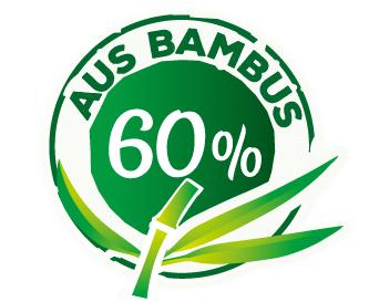 mit 60% Bambus