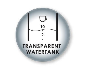 Transparenter Wassertank