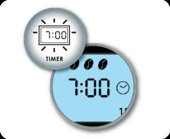 Praktische Timerfunktion incl. Uhr mit LCD-Anzeige