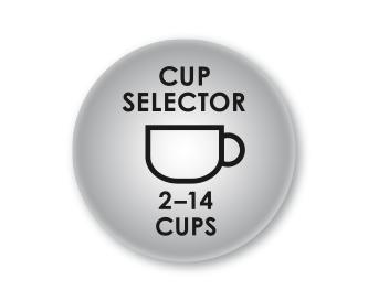 Einstellbare Kaffeemenge für 2-14 Tassen