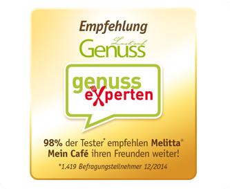 Genussexperten empfehlen Melitta Mein Café