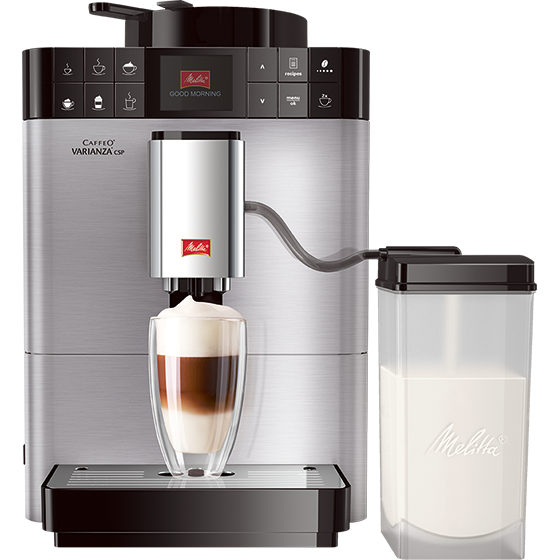 caffeo varianza csp kaffeevollautomat edelstahl 2 wahl melitta online shop. Black Bedroom Furniture Sets. Home Design Ideas