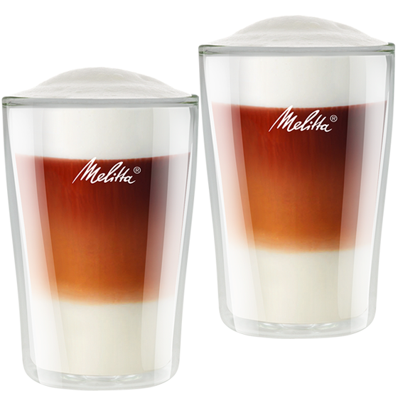 doppelwandige latte macchiato gl ser melitta online shop. Black Bedroom Furniture Sets. Home Design Ideas