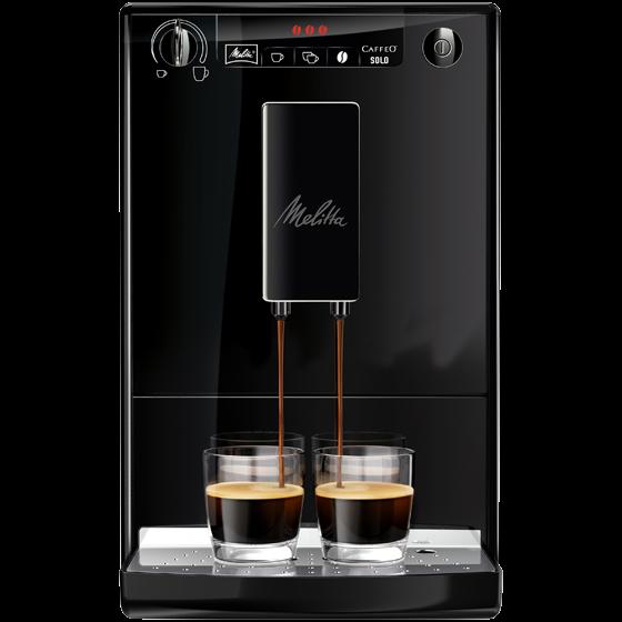 caffeo solo kaffeevollautomat pure black 2 wahl melitta online shop. Black Bedroom Furniture Sets. Home Design Ideas