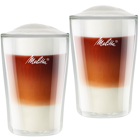 doppelwandige latte macchiato gl ser melitta online shop. Black Bedroom Furniture Sets. Home Design Ideas